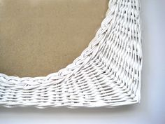 White Wicker Frame, Vintage, Oval Frame, For 8 x 10 Photo or Mirror, Shabby Chic Decor, Horizontal or Vertical, Cottage White by SharetheLoveVintage on Etsy