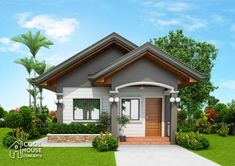 Tiny House Plan with 2 Bedrooms - Cool House Concepts Modern Bungalow House, Bungalow House Plans, Craftsman Style House Plans, Tiny House, Small Modern House Plans, My House Plans, Bedroom House Plans, Minimal House Design, Simple House Design