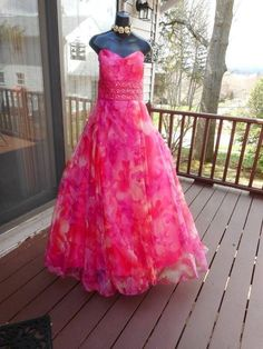 a837c99fa3 Pink Plus Size prom dress homecoming 21 22 xxl beaded gorgeous and so  pink!!!