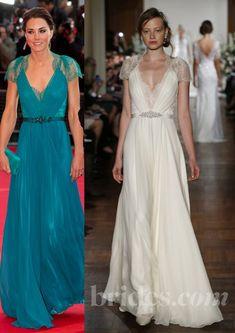 A versão noiva do melhor vestido da Kate   Noiva.com por Gabrieli Chanas
