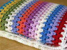 Hey, I found this really awesome Etsy listing at https://www.etsy.com/listing/87302028/fine-granny-stripes-crochet-blanket