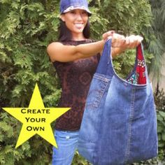Let's co-create the ultimate purse while giving your jeans a second life! We will transform your jeans into an awesome purse while letting you help select the design. Relive those memories wh… Turn your jeans into the ultimate purse! Simply send me a co Denim Jean Purses, Artisanats Denim, Denim Purse, Denim Fabric, Blue Jean Purses, Denim Tote Bags, Denim Handbags, Denim Bags From Jeans, Jean Crafts