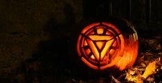 Iron Man/Tony Stark Arc Reactor Pumpkin Carving for Halloween! #Avengers #Marvel #IronMan #Pumpkin #Halloween