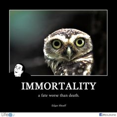 """Immortality, a fate worse than death."" ― Edgar A. Shoaff Quotes  #funny #memory #quotes #funeral #funeralhome  ‪"