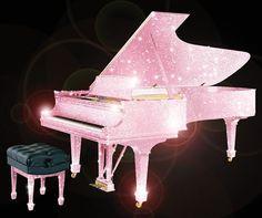 PINK Swarovski piano.....
