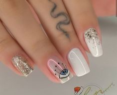 Classy Nails, Stylish Nails, Cute Nails, Pretty Nails, Rhinestone Nails, Bling Nails, Flamingo Nails, Black Nails With Glitter, Les Nails