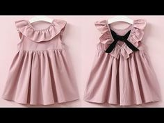 DIY Designer Baby Frock With Ruffled neck Pattern Full Tutorial - YouTube