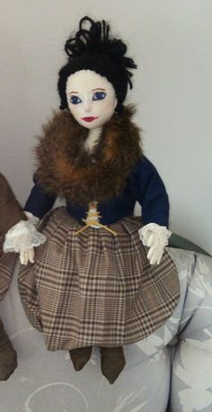My version of Claire of Outlander fame..cloth doll