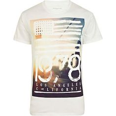 White 1978 LA print t-shirt £16.00