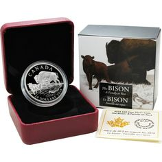2014 Canada Silver Bison A Family at Rest 1oz Proof in OGP