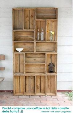 Brilliant! How to recycle wooden fruit crates #2 soooo vintage *.*