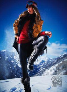 ski patrol: serafima kobzeva by rick truscott for marie claire australia july 2013 | visual optimism; fashion editorials, shows, campaigns & more!