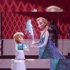 Jack + Elsa's Daughter, learning Snow Magic with her Mother, Jelsa Princesa Disney Frozen, Disney Princess Frozen, Disney High, Princess Anna, Jelsa, Elsa Y Jack Frost, Elsa Baby, Deco Disney, Disney Theory