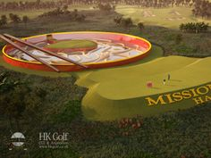 """The """"noodle bowl"""" hole at a life-sized mini golf course that is slated for completion in 2014. The course is located at the Mission Hills re..."""