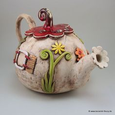 домик гномика Teapot via Keramik Fleury♥•♥•♥
