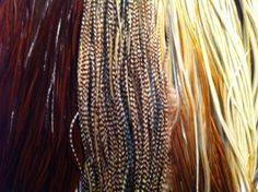 SALE Feather Hair Extensions Brown grizzly Glory by PrettyVagrant, $6.25