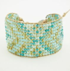 Wrap Bracelets - Mix Blue Crystal Cuff bracelet