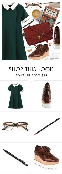 """Preppy Chic"" by black-fashion83 ❤ liked on Polyvore featuring STELLA McCARTNEY, Miu Miu, Pentel, Handle, polyvoreeditorial, polyvoreset and stylemoi"