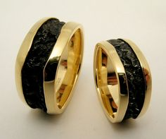 Hand Made and Hammer Forged Laminated 18k by WatertonJewelry, $2275.00