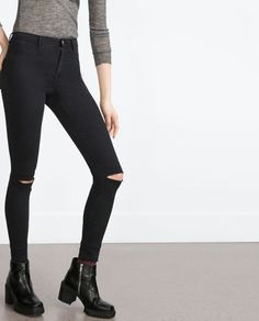Image 2 of HIGH ELASTICITY JEGGINGS from Zara