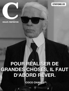 Citation de coco chanel Citation Coco Chanel, Coco Chanel Quotes, Karl Lagerfeld, Citations Chanel, Men Quotes, Life Quotes, Karl Otto, Plus Belle Citation, French Quotes
