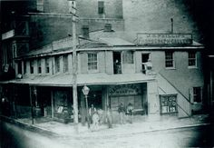 Southwest corner of Third Street (Memorial Drive) and Washington Avenue. (1860s) Missouri History Museum