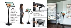 LCD picture frame floor stand (teen space wish list) $350