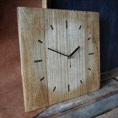pallet clocks - Google Search                                                                                                                                                                                 More