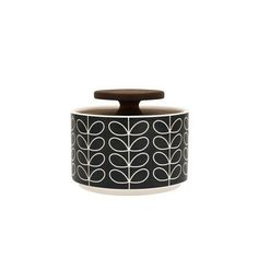 Orla Kiely: Linear Stem Sugar Bowl Dk Gray