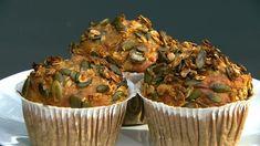 Madpakke muffins med æbler og gulerod Food N, Good Food, Food And Drink, Bagels, Lchf, Kids Meals, Feta, Cake Recipes, Sweet Treats