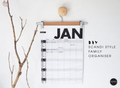 DIY Family Organiser – Scandi Style