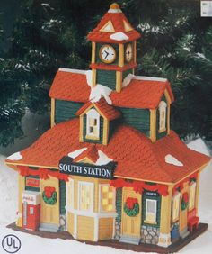**Found at thrift store for $3.99! (ER)** COCA COLA VILLAGE TOWN SQUARE South Station #COCACOLA
