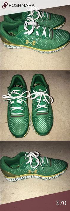 online store 91b34 87249 Shop Men s Under Armour Green Yellow size 13 Athletic Shoes at a discounted  price at Poshmark. Description  Notre Dame addition, BRAND NEW.