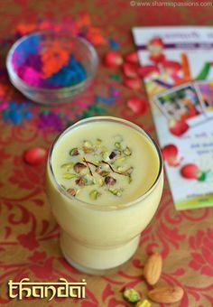 Thandai Recipe - How to make thandai - Holi Recipes | Sharmis Passions