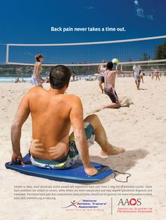Creative Outdoor Advertisement That Make You Look Twice: American Academy of Orthopaedic Surgeons - Back pain never takes a time out. AAOS Annual Meeting.