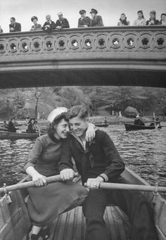 a sailor and his girl, central park,1943