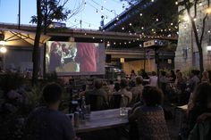 There are tons of movie screenings taking place under the stars this summer in Philly. (Haas Beer Garden at La Peg- Wednesday) Where To Watch Movies, Urban Village, Outdoor Movie Nights, Outdoor Cinema, Brew Pub, Outdoor Venues, Beer Garden, Movie Theater, Outdoor Gardens