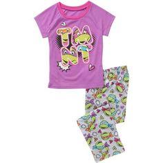 Laura Dare Girls 24M Sleepwear Tiered Colorful Zebra Print Pajamas ...