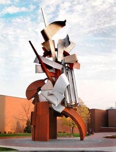 Sculptor: Albert Paley - sculpture: Sentinel - Sculpture.org - Sculpture.org