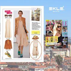 """Ogni occasione  ha il suo dress code: piace anche a te mettere in valigia capi da reinventare? L'abito ALTEA, selezionato da Tu Style, completa un look da """"turista chic"""", ispirandosi al personaggio di Julia Roberts nel film """"Mangia, Prega, Ama"""".  #ekle #ss2016"""