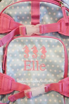 How to Monogram a Backpack