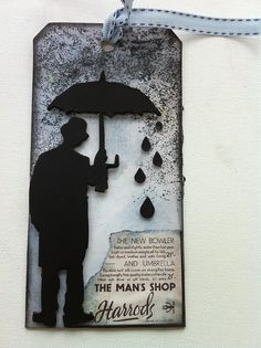 made with the Tim Holtz  Umbrella man die
