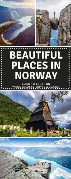 Wonder which Norway destinations to include on your holiday to Norway? Click to see a list of the most beautiful places in Norway. Things to do in Norway | Norway Itinerary | Places to see in Norway | Norway Travel | Norway Trip #norwaytravel #travelgram #travelblogger