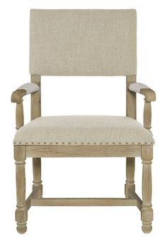 365-542 Antiquarian Arm Chair | Bernhardt W 25 D 24.5 H 39 SH 18.5 AH 25.5 SD 20 Other Fabrics Available($1042.50)  B412 Assigned $765.00 #ArmedChair #OpenArm