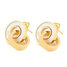 NIBA JEWELRY double Round earrings stud earrings gold plated earrings for women stainless. Earring Type: Stud EarringsItem Type: EarringsFine or Fashion: FashionBrand Name: VQYSKOMaterial: ShellShape\pattern: RoundStyle: TrendyBack Finding: Push-backModel Number: EZ1142Gender: WomenMetals Type: Stainless SteelUseful: 18k  gold earrings for womenSize: 18mm*14mmPayment: Credit Card,Western Union,TT,LC,Alibaba ESCOWShipping: Fedex ,DHL,UPS,China Post,HongKong PostPackage: 1pair into small…