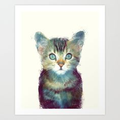 Cat // Aware by Amy Hamilton as a high quality Art Print. Free Worldwide Shipping available at Society6.com from 11/26/14 thru 12/14/14. Just one of millions of products available.