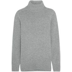 Chloé Cashmere turtleneck sweater (£336) ❤ liked on Polyvore featuring tops, sweaters, grey, cashmere turtleneck, grey sweaters, gray turtleneck sweater, grey turtleneck and grey cashmere sweater