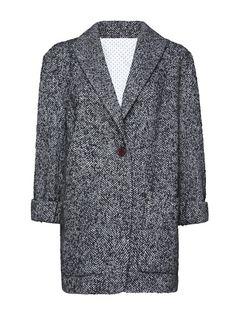 MANGO - Herringbone short coat