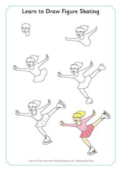 Learn to draw figure skating