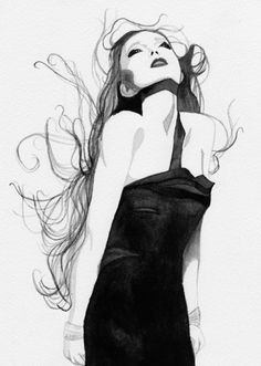 J. Nicole #illustration #art #longhairdontcare   www.LHDC.com